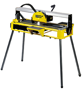 Radial electric tile cutter